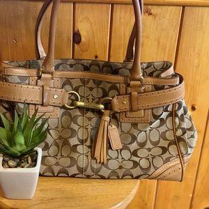 Authentic tan coach purse